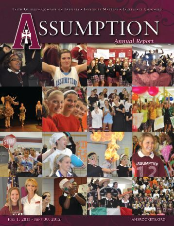 Annual Report Annual Report - Assumption High School