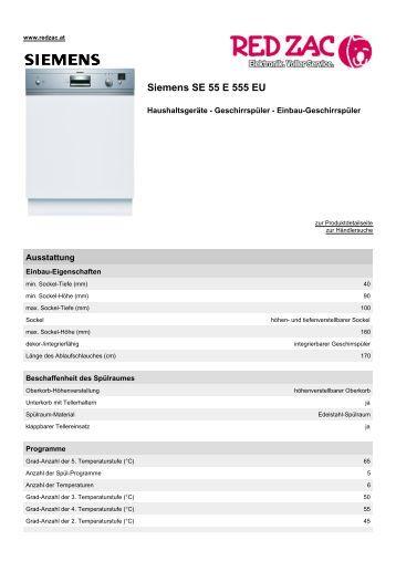 Produktdatenblatt Siemens SE 55 E 555 EU - Red Zac