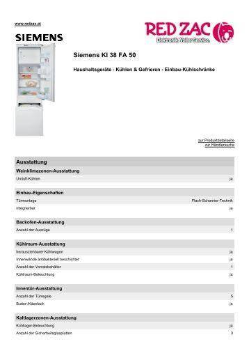 Produktdatenblatt Siemens KI 38 FA 50 - Red Zac