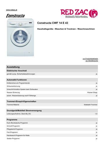 Produktdatenblatt Constructa CWF 14 E 43 - Red Zac