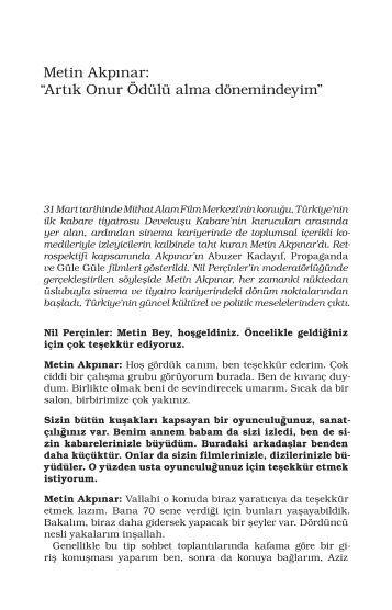 Metin Akpınar - Mithat Alam Film Merkezi
