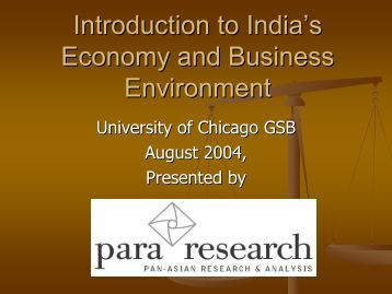 Introduction to India's Economy and Business Environment