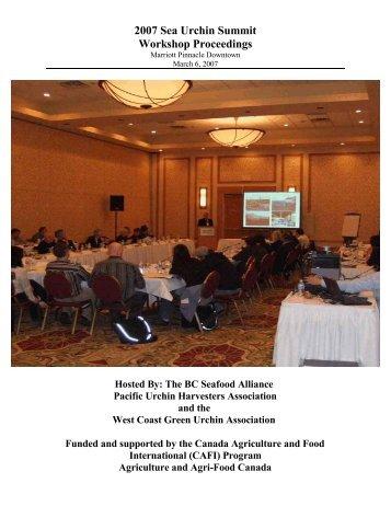 2007 Sea Urchin Summit Workshop Proceedings - Pacific Urchin ...