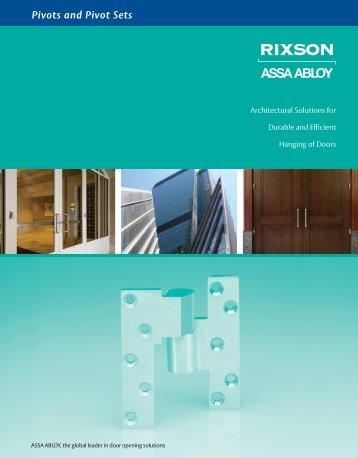 Pivots and Pivot Sets - ASSA ABLOY Door Security Solutions ...