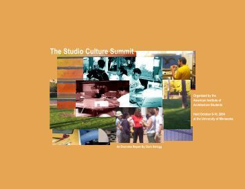 The Studio Culture Summit - School of Architecture + Design