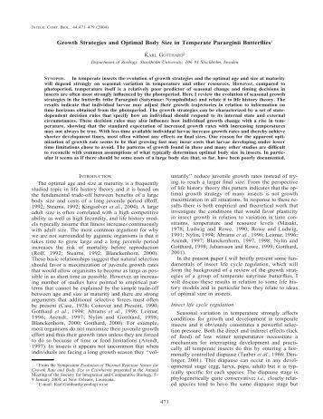 1867 GROWTH TO DEATH IN LIZARDS - BioOne