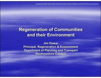 urban regeneration environment This study explores the role which sport has played in the regen of urban areas in scotland & reviews wider evidence that sport can contribute positively to aspects.