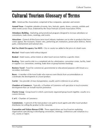 tourism glossary World tourism organization understanding tourism: basic glossary () the glossary has been made possible thanks to the international community's work on defining a new.