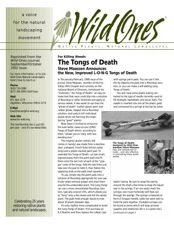 The Tongs of Death - Wild Ones