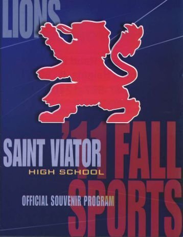 2011 Fall Sports Program - Saint Viator High School