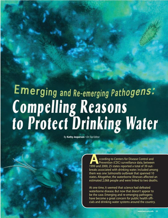 an overview of emerging waterborne pathogens Waterborne protozoan pathogens summary protozoan parasites were the most frequently identified clinical detection methods are compared, and emerging.