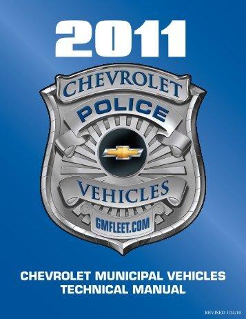 chevrolet municipal vehicles technical manual - Adamson Industries