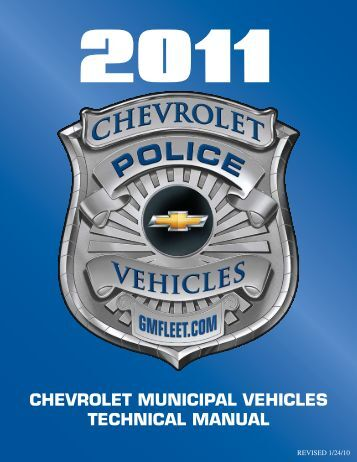 chevrolet municipal vehicles technical manual - Adamson Industries