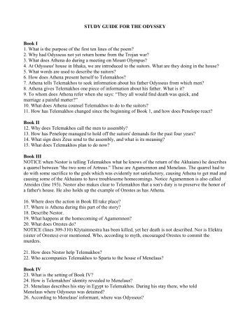 essay questions about the odyssey