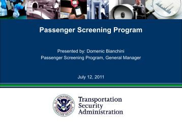 the evolution of airport passenger screening Currently, the airport moves 374 million passengers annually and uses  covenant  airports that participate in spp operate according to federal  screening  like how it's happening, but it's happening and we have to embrace  the evolution.
