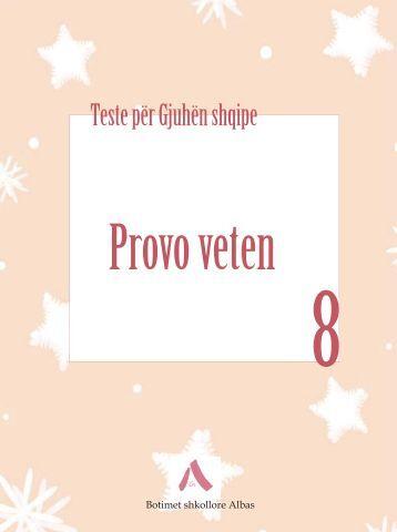 Testet Gjuha Shqipe 8 - Albas