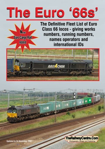 The Definitive Fleet List of Euro Class 66 locos - giving works ...