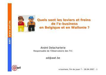 Quels sont les leviers et freins de l'e-business en Belgique et ... - Awt