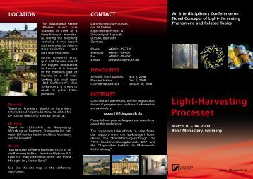 Light-Harvesting Processes - Chair for Experimental physics IV