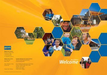 Welcome booklet - Melton City Council