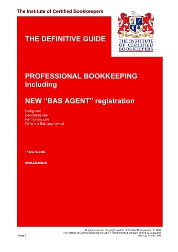 THE DEFINITIVE GUIDE PROFESSIONAL BOOKKEEPING ...