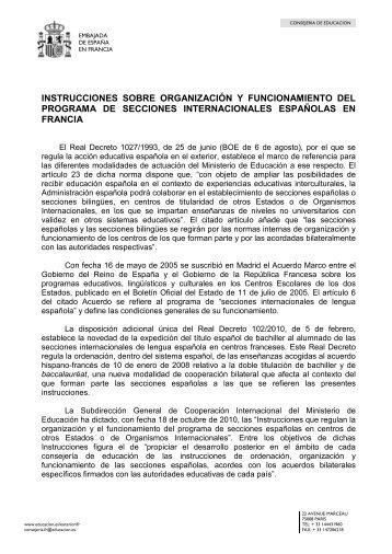 instrucciones sobre organización y funcionamiento del ... - FETE-UGT