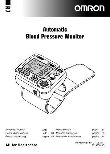 omron wrist blood pressure monitor manual