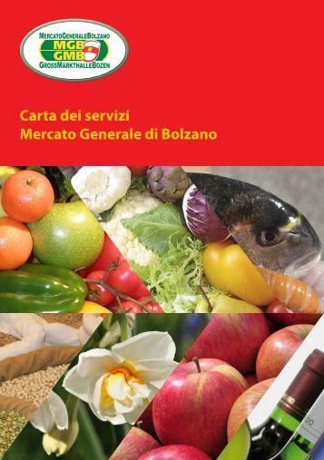 Carta dei servizi Mercato Generale di Bolzano