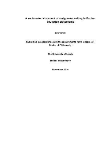 Submission of the PhD thesis
