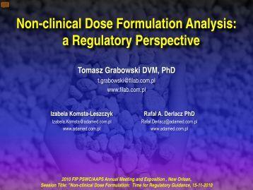 Non-clinical Dose Formulation Analysis