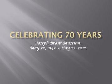 Celebrating 70 Years (12.7 MB) - Museums of Burlington