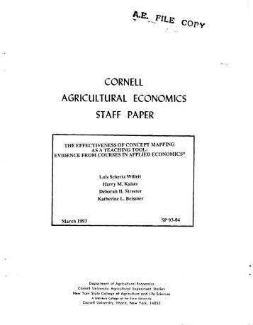 cornell agriculture essay
