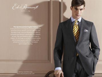 The Quintessential English Tailors From personal and bespoke ...