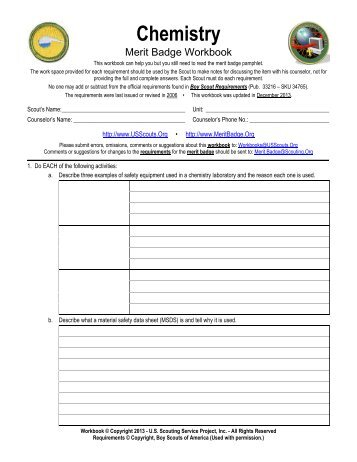 First aid merit badge worksheet word