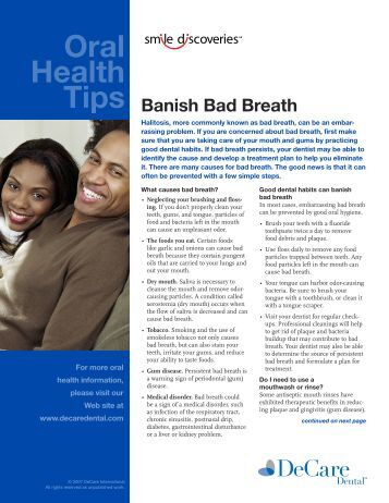 Oral Health Tips - DeCare