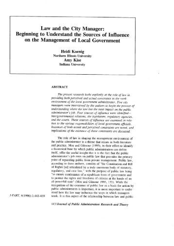 Law and the City Manager: - Bush School of Government and Public ...