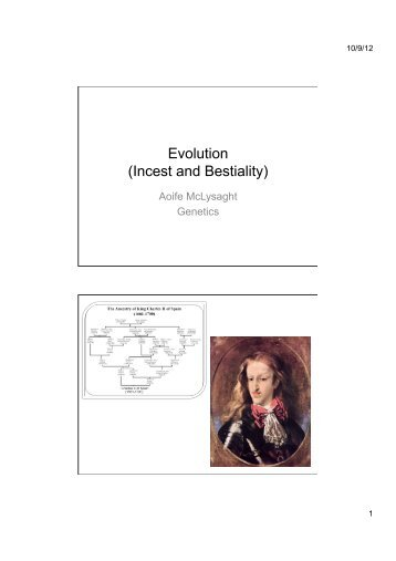 Evolution (Incest and Bestiality)