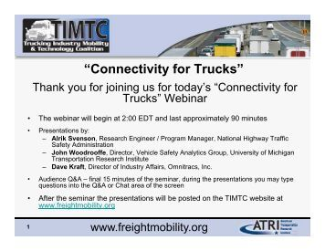"""Connectivity for Trucks"" - Trucking Industry Mobility and Technology ..."