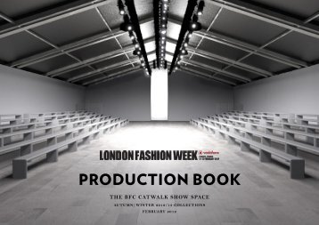 PRODUCTION BOOK - London Fashion Week