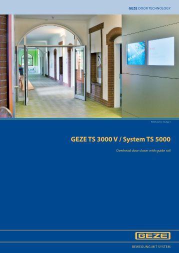 geze ts 3000 v system ts 5000 overhead door novas. Black Bedroom Furniture Sets. Home Design Ideas