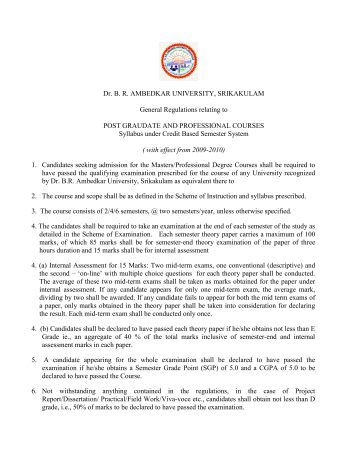M.Com - Dr.BR Ambedkar University