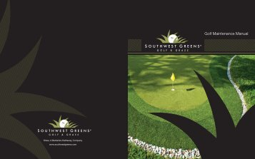 Golf Maintenance Manual - Southwest Greens
