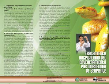2. Tratamiento complementario al suero antiofídico: