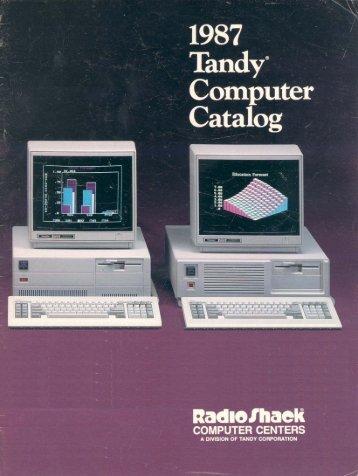 RSC-17 Computer Catalog (1987)(Radio Shack) - TRS-80 Color ...