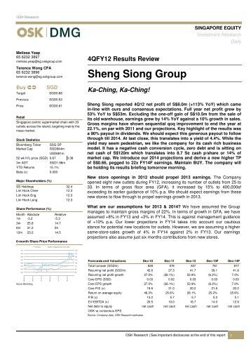 cimb sheng siong group It was mostly driven by new stores cimb said sheng siong's 1q17's group sales'  41% yoy growth is not something to shout about according.