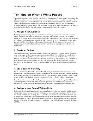 Research on white paper