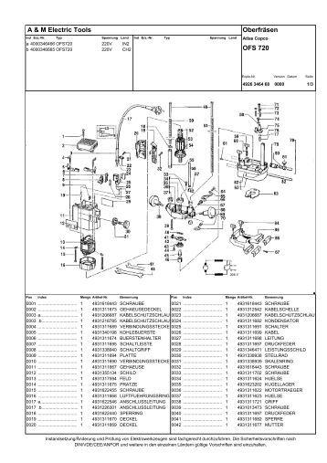 ofs 720 erz 4000346665 oberfraese atlas copco, ersatzteile ...