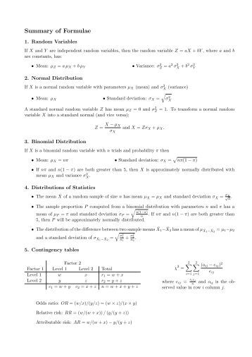 statistics formula sheet Statistics formula sheet - free download as pdf file (pdf), text file (txt) or read online for free scribd is the world's largest social reading and publishing site search search.