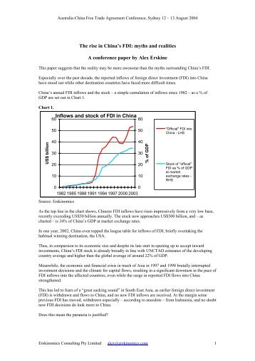 The rise in China's FDI: myths and realities A conference paper by ...