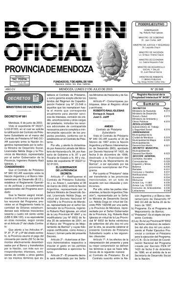 PROVINCIA DE MENDOZA - Gobernación de Mendoza - Gobierno ...